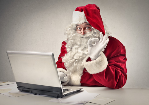 Santa at his desk